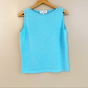 St. John Santana Knit Sleeveless Sweater Tank Top